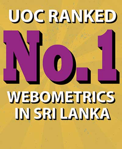 No. 1 among Sri Lankan Universities in the Webometrics Ranking 2020