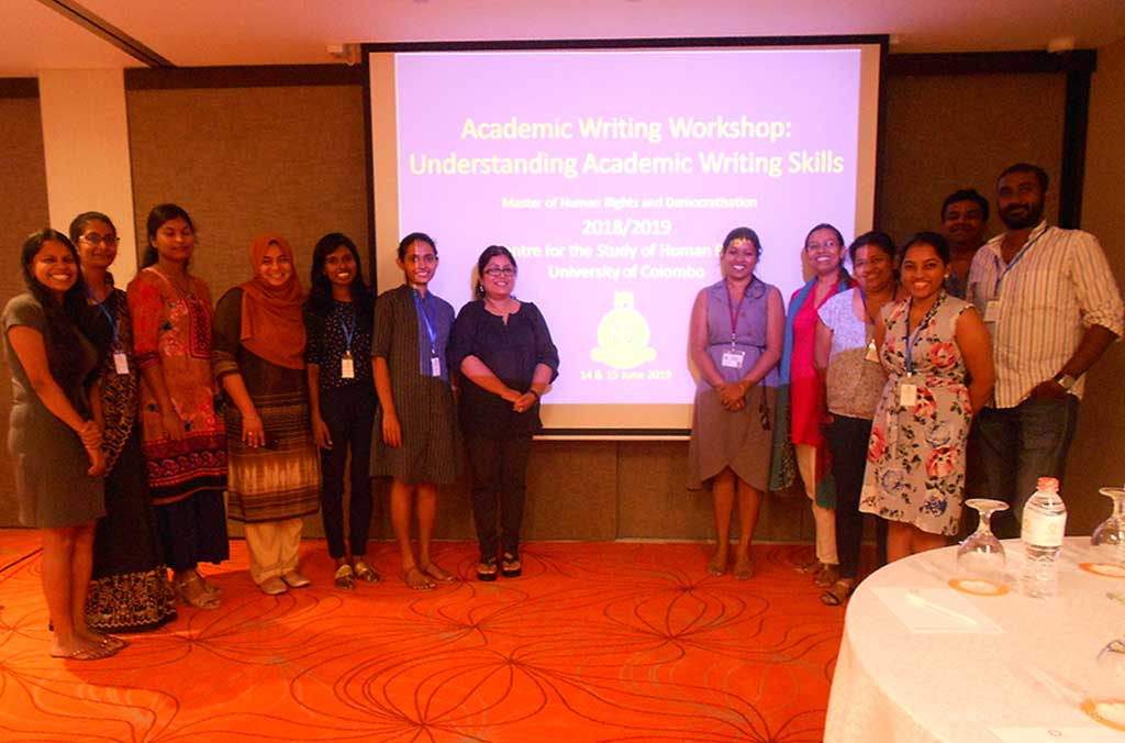 Academic writing skills workshop – CSHR