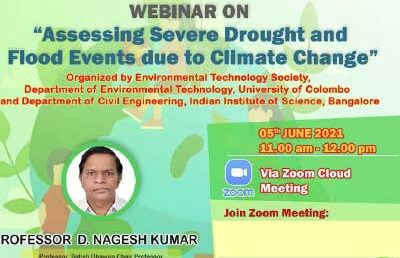Webinar on World Environmental Day – Assessing Severe Drought and Flood Event Due to Climate Change
